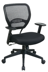 professional air grid back managers chair with black mesh