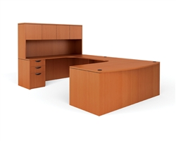 Offices To Go U Shaped Executive Bowfront Desk With