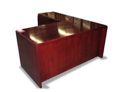 Used L Shaped Wood Desks From Office Furniture Outlet In